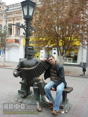 Саратовский «Арбат» (фото 3). Alex Lat и памятник саратовской гармошке