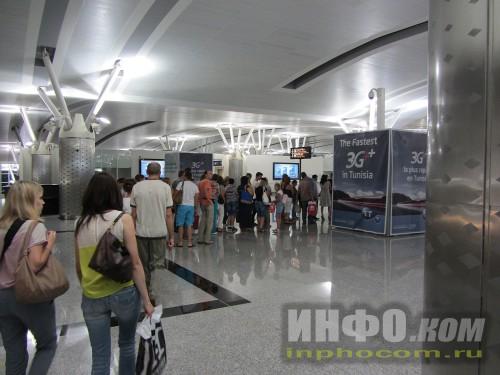 Паспортный контроль в аэропорту Энфидха
