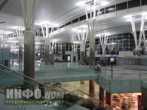 Аэропорт Энфидха пустой. Кроме нас никого нет