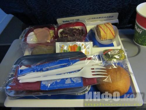 Питание Transaero в самолёте
