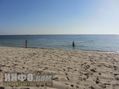 Тунисский пляж. Нежный песок и бескрайнее море