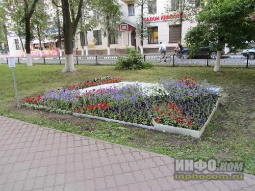 Электросталь, праздник цветов - 2014, работа