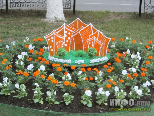 Электросталь, праздник цветов - 2014, новинка - спонсор инсталляции - web-сайт