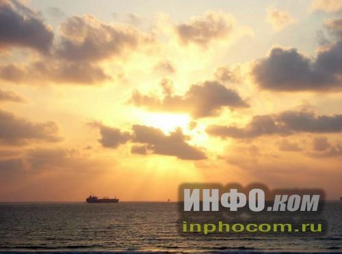 Израиль. Закат на Средиземном море