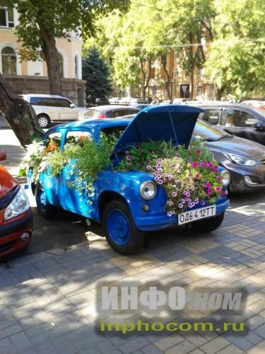 Одесса, автомобиль-цветник