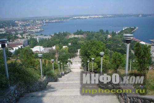 Митридатская лестница. Вид сверху